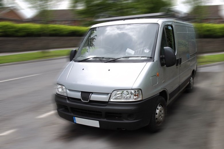 Van theft - a van being driven away at speed